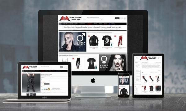 Création de site internet: The Black Angel