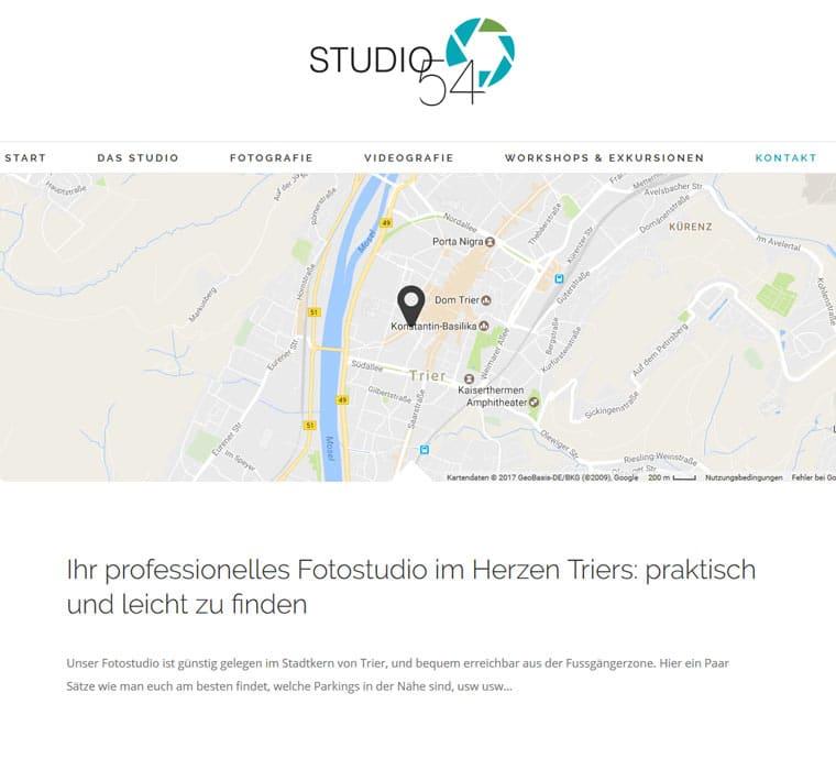 Simplicité: le client trouve facilement le studio