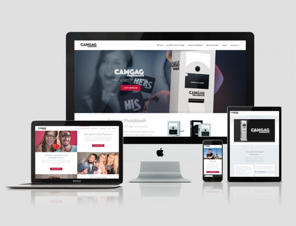 Camgag: création d'une page d'atterrissage web