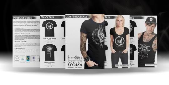 Montage d'images illustrant la conception et réalisation du catalogue imprimée de la marque de vêtements Supernova Cult.
