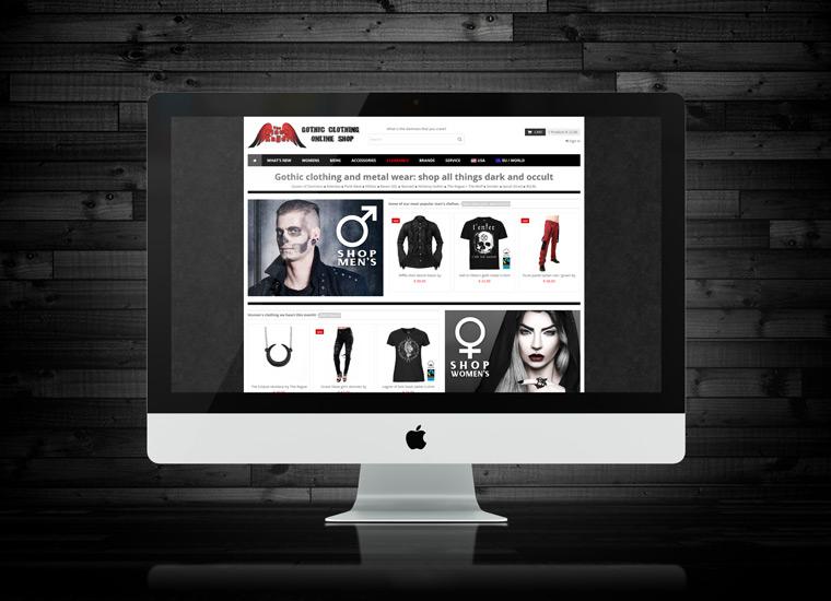 Création site web: boutique en ligne